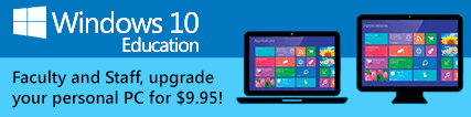 Banner: Purchase discounted Windows 10 Education